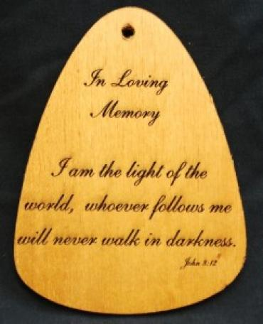 Z I AM THE LIGHT OF THE WORLD WIND CHIME PLAQUE